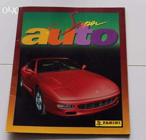 """Caderneta """"Super Auto"""" da Panini. Completa."""