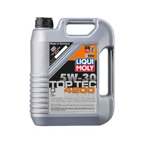 Oleo 5W30 LIQUIMOLY Top Tec 4200 LL 5W30 5L - 39€ + IVA CADA 5L