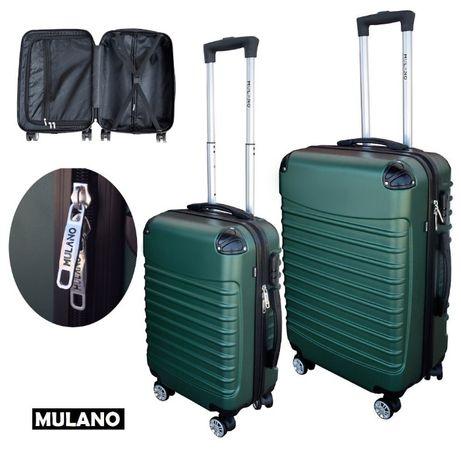 1372+1373 Zestaw walizek podróżnych L+M na kółkach ZIELONE lekkie
