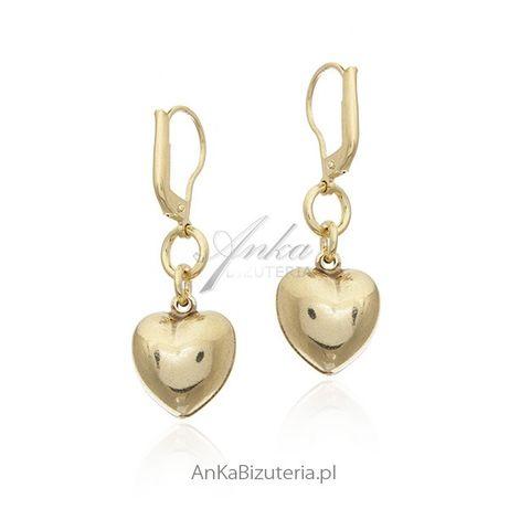 ankabizuteria.pl biżuteria włoska Kolczyki srebrne pozłacane Pełne SER
