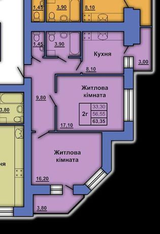 2-х кім квартира, 580000грн.,  63м2, ТОРГ,ТЕРМІНОВО, Ст. Фронту 20