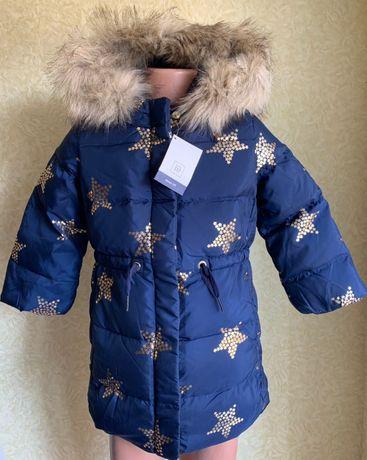Куртка зимняя для девочки Геп пуховик 2 года 3, года