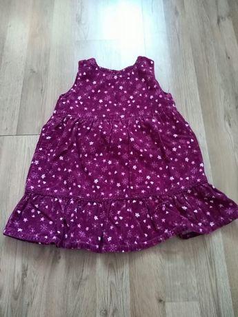 Sukienka sztruksowa