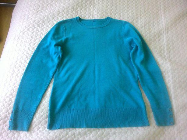 sweter damski odcień morski S