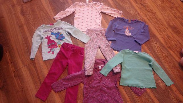 Spodnie, bluzki, trole, kotki, smyk r. 92