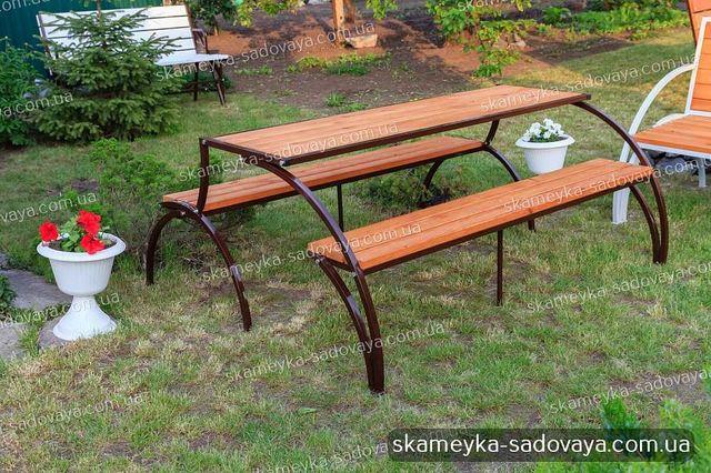 ТОП садовая мебель - лавка 3в1 Авангард: стол, скамейка,лавочка!