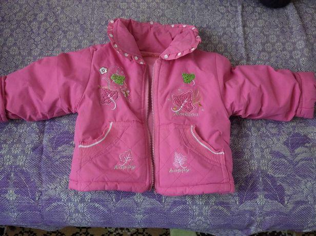 Куртка с капюшоном на 1 годик
