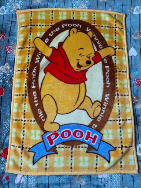 Плед, коц, одеяло флисовое детское Винни Пух 100х140 см