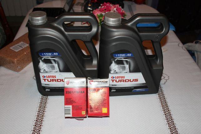 Olej Silnikowy LOTOS TURDUS SHPD 15W40 5L 10L C-330 C 360 + Filtry