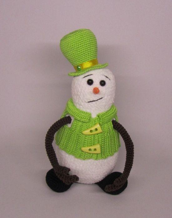 Снеговик вязаная игрушка снеговичок ручная работа Северодонецк - изображение 1
