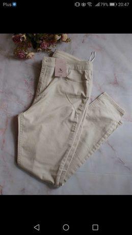 Nowe spodnie kremowe tu 38 M zara rurki na lato
