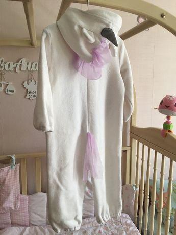 Флисовый слип Единорог,человечек пижама поддева комбез «Baby 8»12-18м