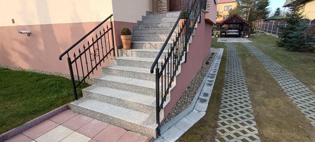 Schody Granitowe Stopnie Trepy Stopnica Płyty Kamienne Granit Brąz