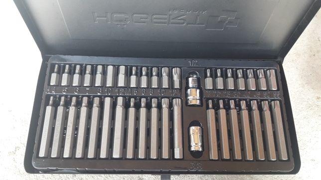 HOGERT zestaw ,klucze TORX SPLINE HEX x40 HT1S404