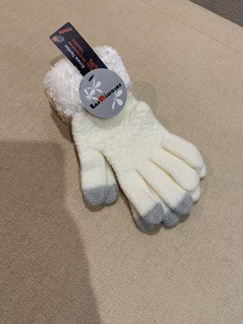 Теплые перчатки рукавички новые