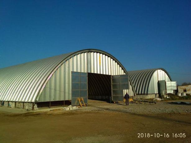 Будівництво ангарів. Ангари аркові безкаркасні, зерносховища, склади