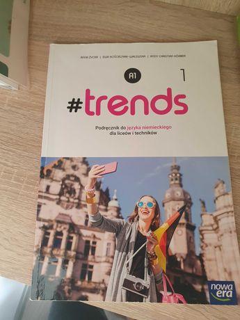 Książki trends 1 i 2 podreczniki i cwiczenia do języka niemieckiego