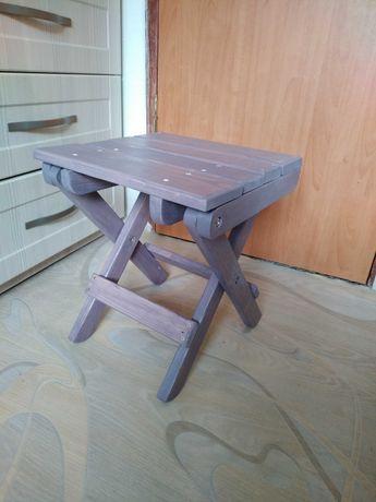 Табурет деревянный, раскладной, ручная работа, делаем на заказ