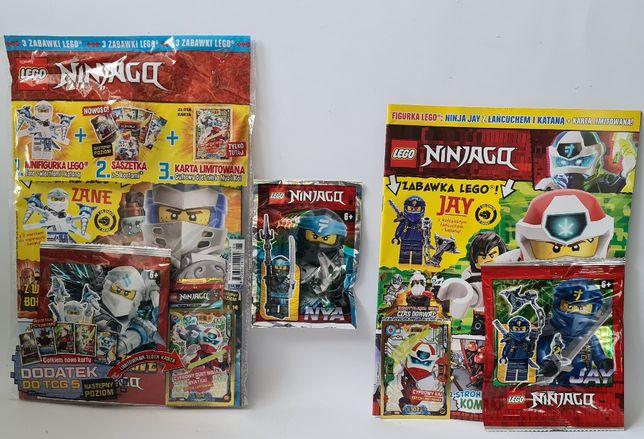 GAZETKA LEGO 3szt NINjAGO ZANE JAY NYA złota karta cyfrowy kai