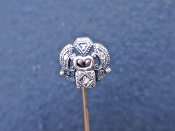 Alfinete peito ouro e prata antigo joia contrastado senhora negociável