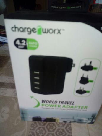 Power adapter world travel