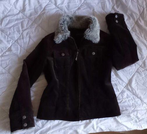 Деми куртка приталенная короткая вельветовая марсала Principles, 46 М