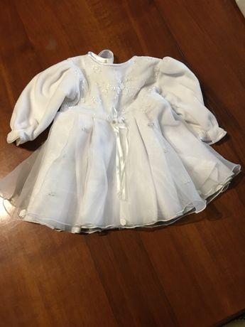 ubranko na chrzest św. dla dziewczynki