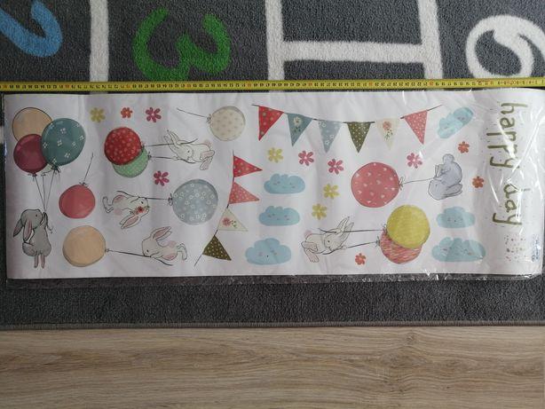 Naklejki na ścianę do pokoju dziecięcego balony królik
