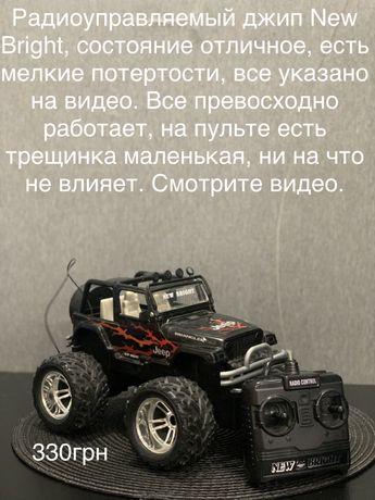Машина на радиоуправлении с пультом jeep new bright джип машинка