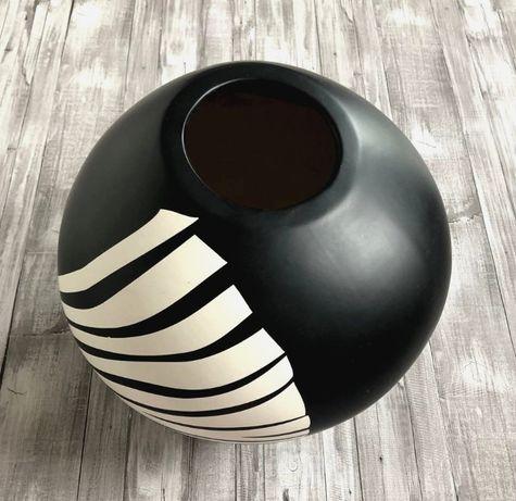 WAZON dekoracyjny czarno-biały zebra