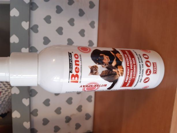 Preparat przeciw obgryzaniu przedmiotów i lizaniu ran dla zwierząt