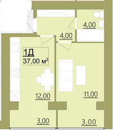 Продаю,в центрі, 1-кімнану квартиру