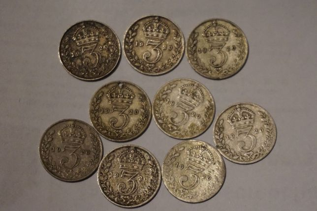 Wielka Brytania, 3 pensy z 1920, Londyn, srebro