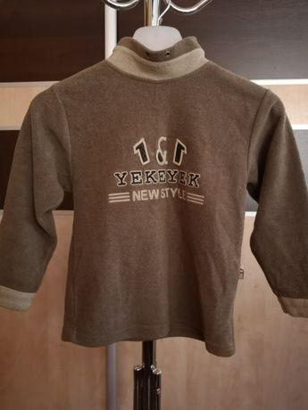 Zmysłowa bluza chlopieca z nadrukiem kolor brązowy