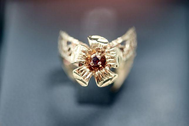 Wyjątkow złoty pierścionek AŻUROWY 10K R9 3,29G