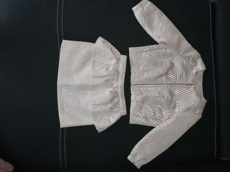 Elegancki komplet Reserved żakiet+spódnica z baskinką 98 stan idealny