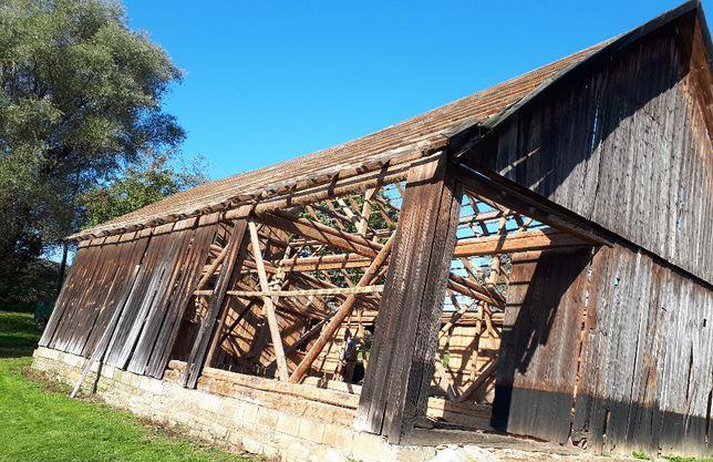 rozbiórki stodół skup starego drewna