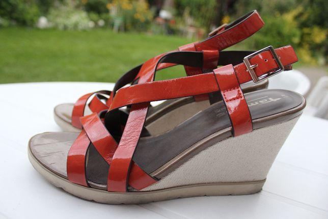 sandały Tamaris kolorowe rozmiar 41 lekkie