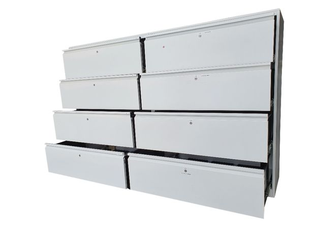 Komoda 200 cm z 8 szufladami stół warsztatowy zabudowa garaż warsztat