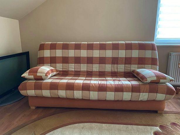 Kanapa sofa kratka pomarańczowo żółta