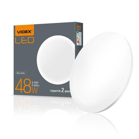 LED светильник настенно-потолочный круглый VIDEX 48W 4100K Матовый