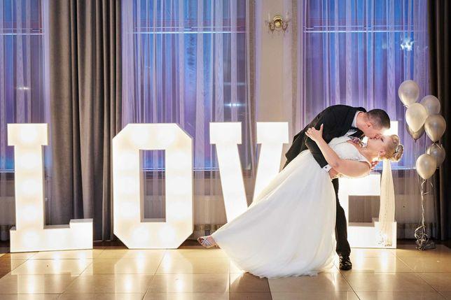 Napis LOVE 120cm dekoracje wesele ślub, zaręczyny, sesja