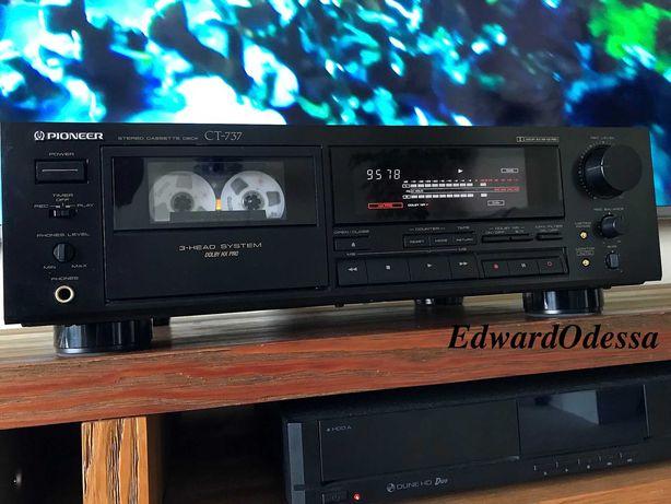 Японская кассетная дека Pioneer CT-737 ( 3 Head, 20Hz-21kHz Japan)