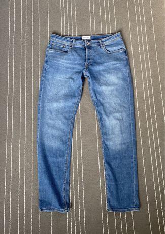 spodnie męskie jeansy dżinsy niebieskie denim Jack&Jones SlimFit 36/32