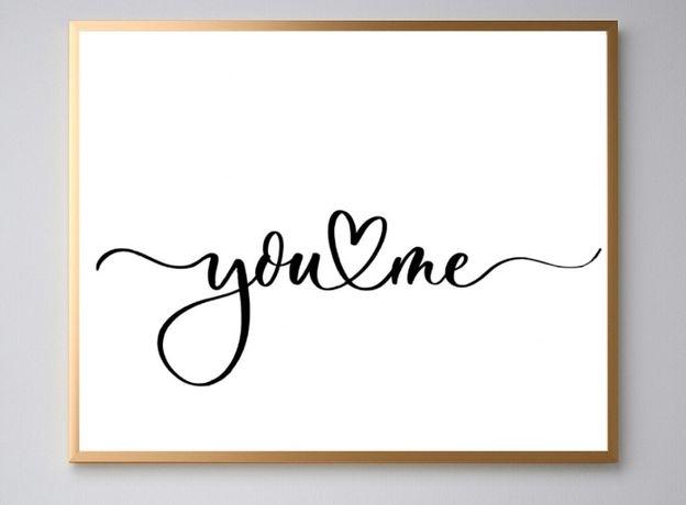 plakat dekoracyjny you & me 40x50 cm