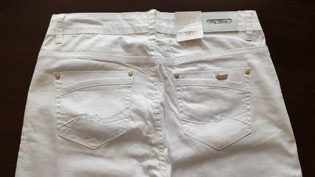 Spodnie letnie legginsy białe rozmiar 31