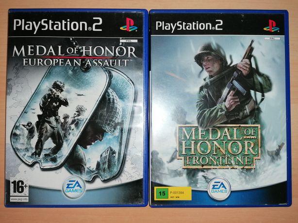 Jogos PS2 ( PlayStation 2) Medal of Honor European Assault / Frontline