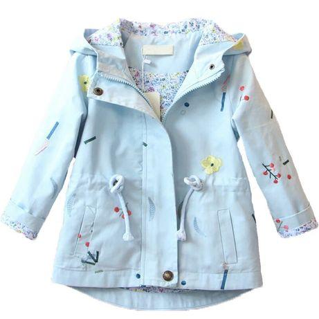Куртка, плащ на девочку на весну, куртка на дівчинку, размеры 92-140