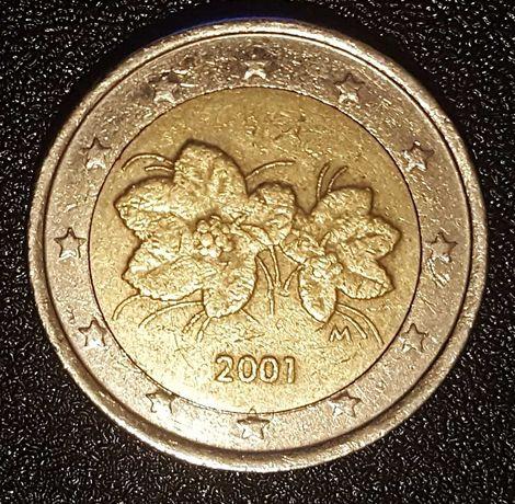 Moeda 2 Euros - Finlândia (2001) com ERRO