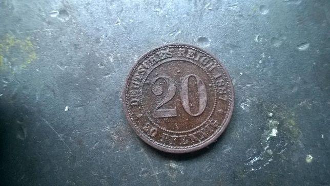 moneta cesarstwo niemieckie 1887 rok